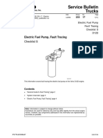 Electric Fuel Pump, Fault Tracing