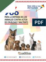 Ley 700 Para La Defensa de Los Animales Contra Actos de Crueldad y Maltratos