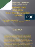 Statistika seminarski