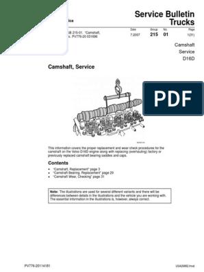 Camshaft, Service | Gear | Screw