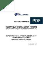 estudio tarifario EPSASA