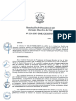 Resolución N°221-2017-SINEACE-CDAH-P