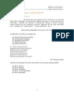 Ejercicicos Literatura 3ro