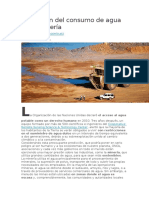 La Gestión Del Consumo de Agua en La Minería