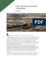 Rehabilitación de Zonas Mineras Mediante Biosólidos