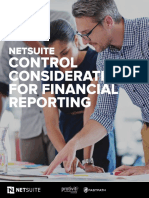 Netsuite Control Considerations for Finanical Reporting
