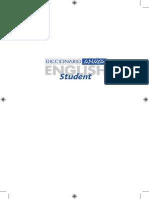 Diccionario Anaya English Student English Spanish Español