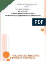 1.3 Analisis Del Ambiente Interno y Externo