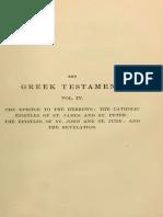 The Greek Testament Vol 4