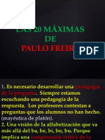 20 Maximas de Paulo Freire