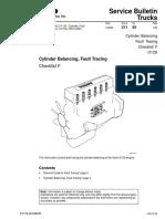 Cylinder Balancing, Fault Tracing