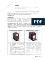 Transformadores de medición de corriente y voltaje, aplicaciones, características y prevenciones.