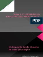Tema5 El desarrollo evolutivodeladolescente