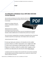 Accediendo Al Modem Cisco DPC3825 DOCSIS 3.0 de Fibertel - Www.fontana.com