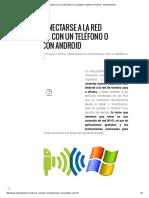 Cómo Conectarse a La Red Windows Con Un Teléfono o Tablet Con Android - Android Experto