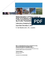 Determination of Total Lipids as Fatty Acid Methyl Esters (FAME) by in situ Transesterification