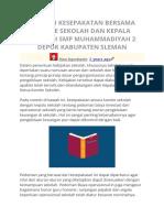 Contoh Kesepakatan Bersama Komite Sekolah Dan Kepala Sekolah