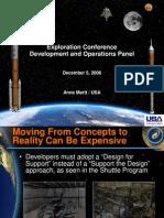 NASA 164285main 2nd exp conf 08 DevelopmentAndOperation MsAMartt