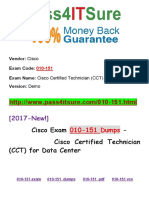 New Pass4itsure Cisco 010-151 Dumps PDF - Cisco Certified Technician (CCT) for Data Center