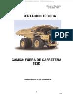 Manual Camion Minero 793d Caterpillar Sistema Monitoreo Motor Tren Potencia Direccion Aire Frenos