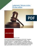 Land mark judgment Torture victim awarded LKR one million.docx