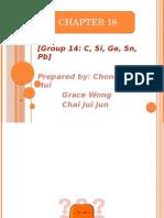 Group 14 C,Si,Ge,Sn,Pb