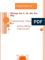 Group 14 C,Si,Ge,Sn,Pb