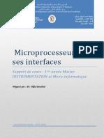 Cours Microprocesseur Et Ses Interfaces
