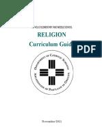 Archdiocesan Religion Curriculum