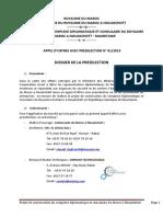 Dossier de Préselection Nouakchott