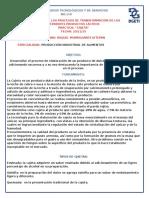 PROCESO DE ELABORACION DE CAJETA