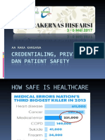 Credentialing, Privileging & Patient Safety Lombok Mei 2017