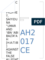 A Defence Of Holy Prophet, Saiyiduna Umar, Saiyiduna Hatib , Imam Muslim and Sahih Muslime against the False Allegations of Engineer Ali Mirza of Jhelum