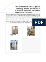 Home Elevator-Do You Know What is the Best Price of a Eco Friendly Home Elevators?