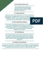 10 Habilidades de Un Director de Proy