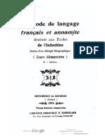 (1915) Méthode de Langage Français Et Annamite - P.Lục