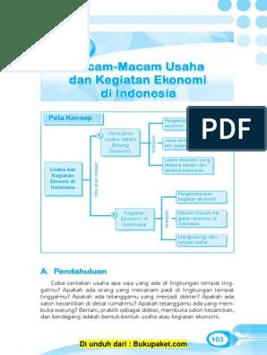 Bab 5 Macam Macam Usaha Dan Kegiatan Ekonomi Di Indonesia Pdf