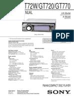 Sony CDXGT-770 Service Manual
