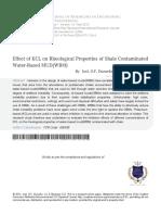 2 Effect of KCL on Rheological Properties
