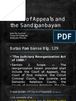 Court of Appeals and the Sandiganbayan