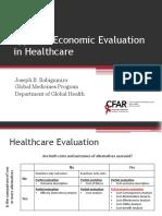 Types of Economic Evaluation in Healthcare 1