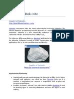 Supplier of Dolomite Best Price