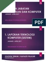Laporan Ketua Jabatan Percetakan & Komputer (Jan-April 2017)