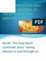 The Action Of The Holy Spirit In Bringing To Greater Unity The Body Of Christ