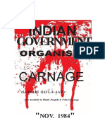 Indian Government Organized Carnage