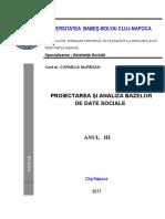Proiectarea Si Analiza Bazelor de Date Sociale