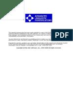 Advanced Linguistic Pointificators -Established- Standard
