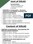 Content of SOLAS
