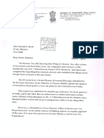 Dr Subramanian Swamy s Letter to PM on Assets of PC and Family and Karti