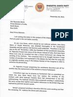 Dr Subramanian Swamy Letter to PM on Jana Gana Mana
